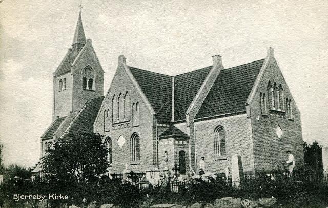 Postkort - Bjerreby Kirke ca. 1905
