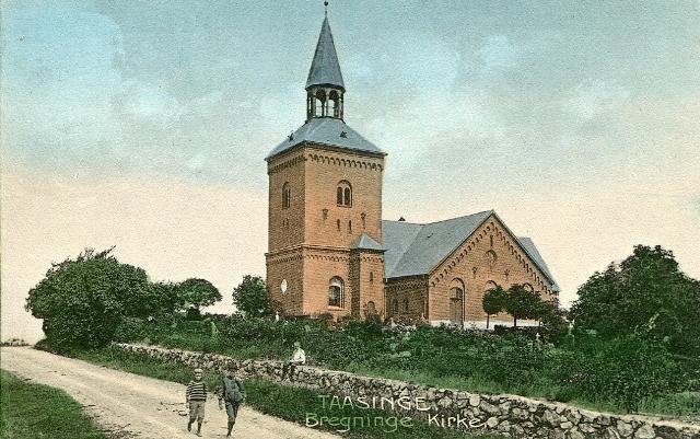 Postkort - Bregninge Kirke fra ca. 1907