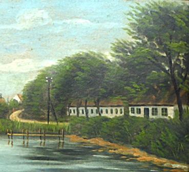 Maleri af Vindeby gamle Færgegaard
