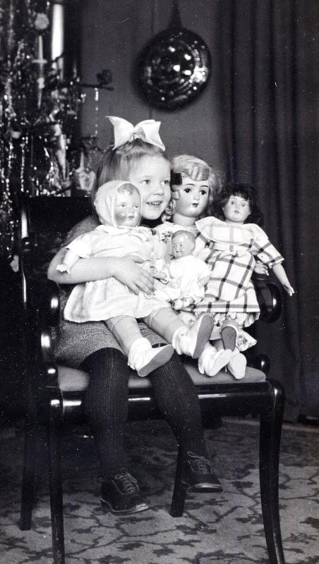 Julen 1923: Margit, lærer C.G. Høgstrøms barnebarn, glæder sig til juleaften.